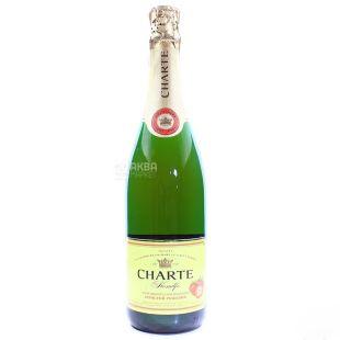 Charte Клубника Вино игристое, Розовое полусладкое, 0,75 л