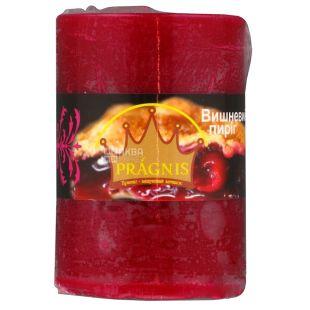 Pragnis Аромат вишневий пиріг, Рустик, Свічка циліндр, D5,5 * 8 см