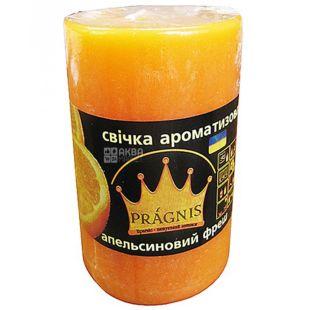 Pragnis Aroma orange fresh, rustic, Candle cylinder, D5,5 * 8 cm