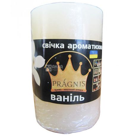 Pragnis Аромат ваниль, Рустик, Свеча цилиндр, D5,5*8 см