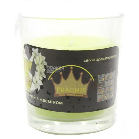 Pragnis Aroma green tea, Candle in a glass, D 6,5cm