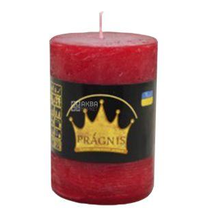 Pragnis Rustik Candle Cylinder red, D7cm x 10 cm