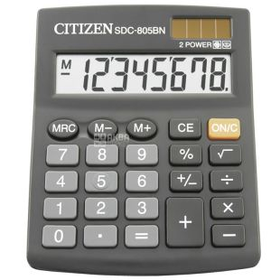 Citizen Калькулятор, Настольный, 8 digit, SDC-805BN