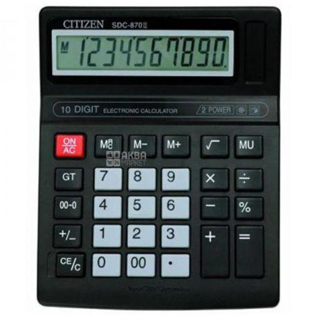 Citizen Калькулятор, Настільний, 10 digit, SDC-870II