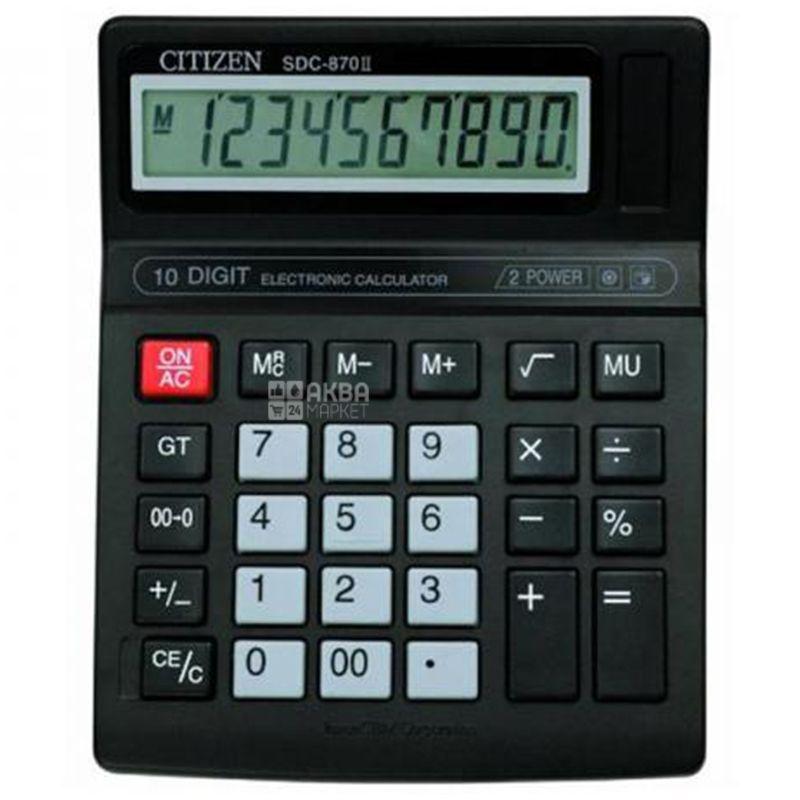 Citizen Калькулятор, Настольный, 10 digit, SDC-870II