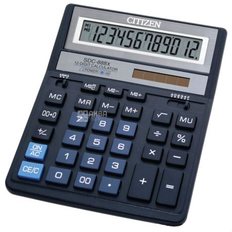 Citizen SDС-888 XBL, Калькулятор настільний, 158х203х31 мм