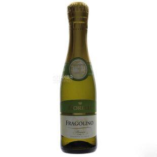 Fiorelli Фраголино Бьянко Вино, Белое сладкое, 0,2 л, Стеклянная бутылка