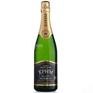 Крим, Вино игристое белое полусухое, 0,75 л