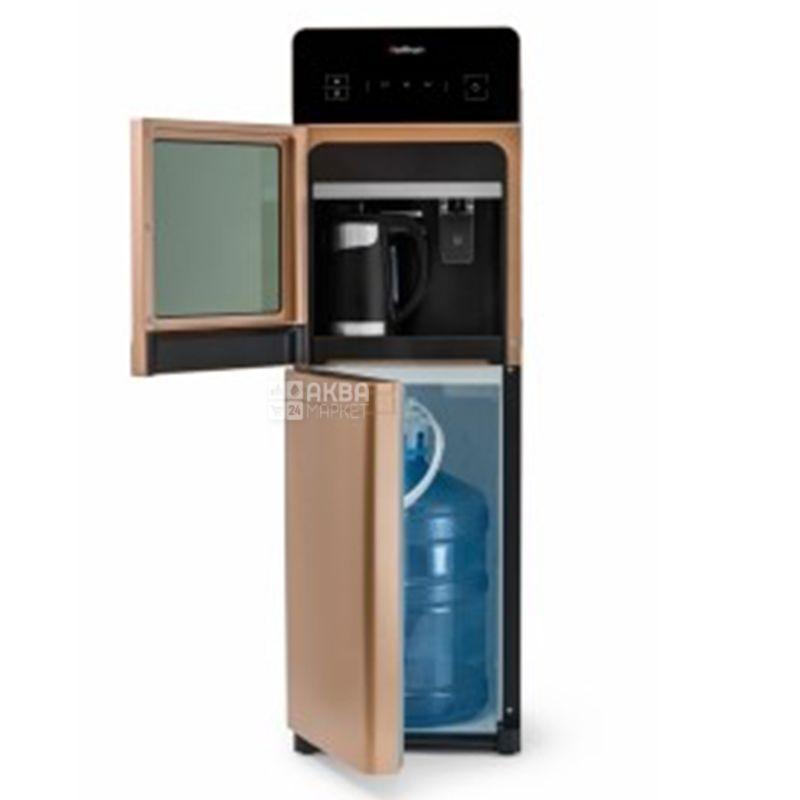 HotFrost 350ANET Gold, Кулер для води з електронним охолодженням, підлоговий з чайником, сенсорна панель, 1 кран