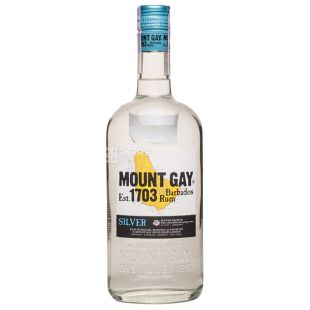 Mount Gay Silver, White Rum, 2 years old, 0.7 l