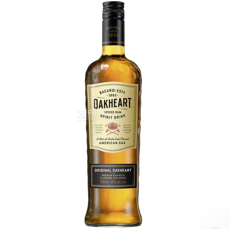 Bacardi Oakheart Original, Ром, 1 год выдержки, 0,7 л