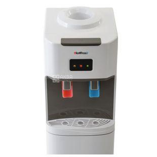 HotFrost V115, Кулер для води підлоговий, сіро-білий, 2 крана