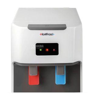 HotFrost V115A, Кулер для води підлоговий, сіро-білий, 2 крана