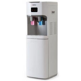 HotFrost V115AE, Кулер для воды напольный, серо-белый, 2 крана
