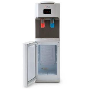 HotFrost V115B, Кулер для воды напольный, серо-белый, 2 крана