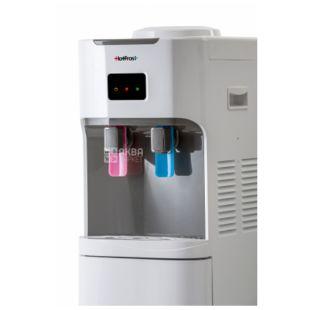 HotFrost V115CE, Кулер для воды напольный, серо-белый, 2 крана
