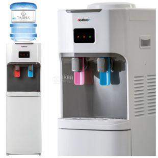 HotFrost V115CE, Кулер для води підлоговий, сіро-білий, 2 крана