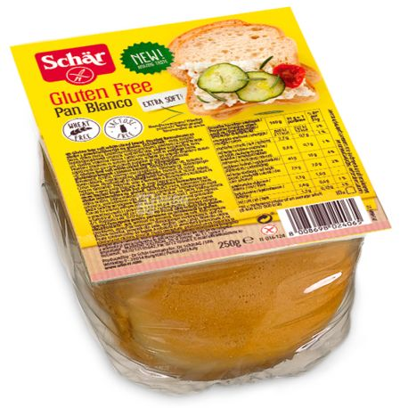 Dr. Schaer Pan Blanco, Хлеб белый без глютена, 250 г, м/у