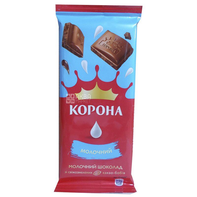 Корона, Шоколад молочний, 85 г, м/у