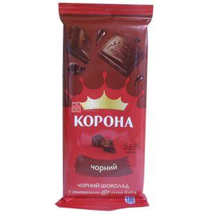 Корона, Шоколад чорний, 85 г, м/у