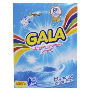 Gala Sea freshness, Washing powder for colored laundry, automatic, 400 g, cardboard