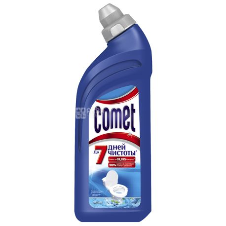 Comet, 500 мл, средство для чистки унитаза, Океан, ПЭТ