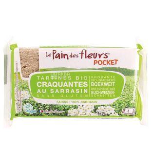 Le Pain dеs Fleurs, Хлібці з гречки, 18,5 г, м/у