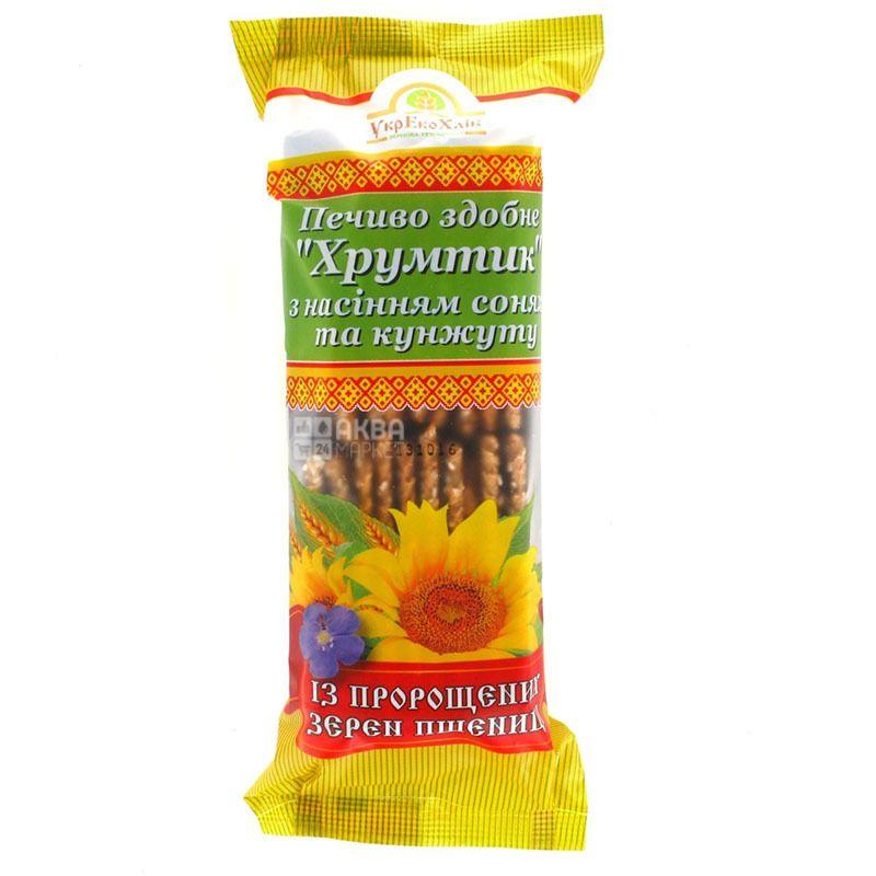 Печенье с проросшей пшеницы Хрумтик с семечками, 250 г