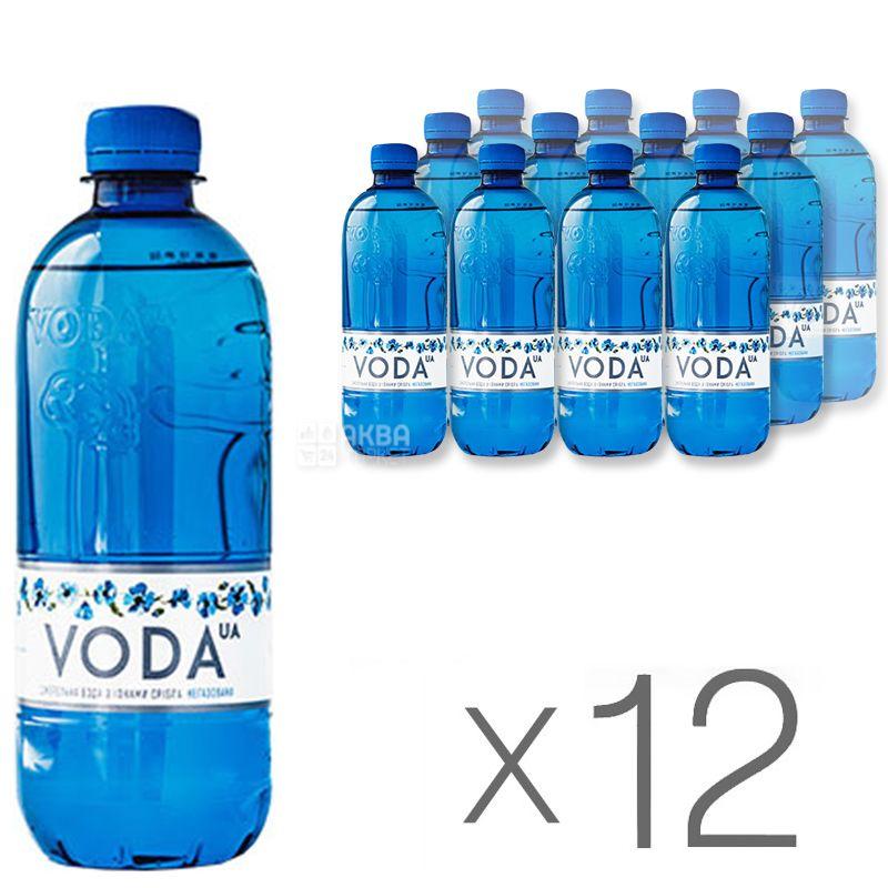 VODA UА, 0,5 л, Упаковка 12 шт., Вода ЮА, Вода негазована, ПЕТ