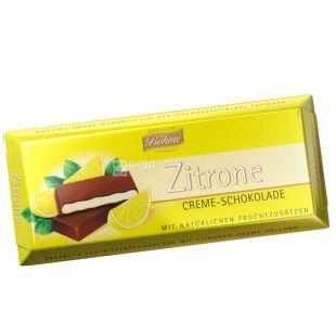 Bohme, Шоколад чорний з кремово-лимонною начинкой, 100 г, м/у