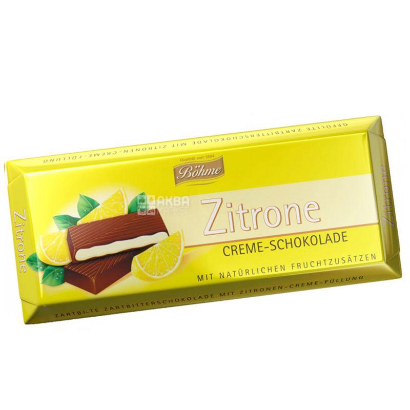 Bohme, Шоколад черный с кремово-лимонной начинкой, 100 г, м/у