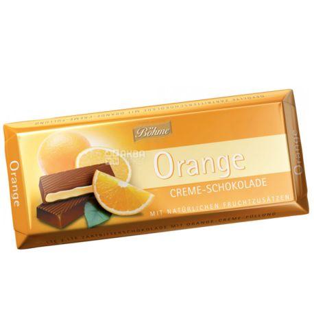 Bohme, Шоколад черный с кремово-апельсиновой начинкой, 100 г, м/у