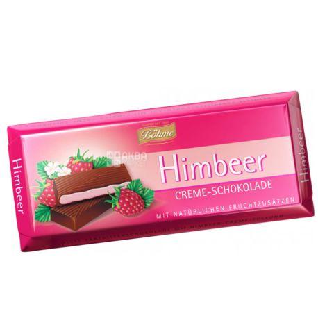 Bohme, Шоколад черный с кремово-малиновой начинкой, 100 г, м/у