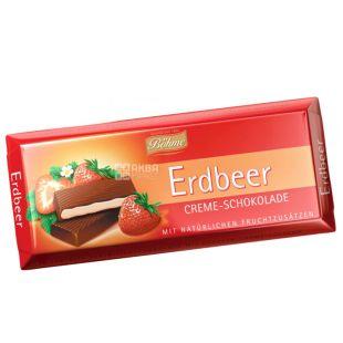 Bohme, Шоколад чорний з кремово-полуничною начинкой, 100 г, м/у