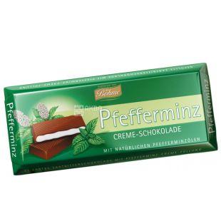 Bohme, Шоколад чорний з кремово-м'ятною начинкой, 100 г, м/у