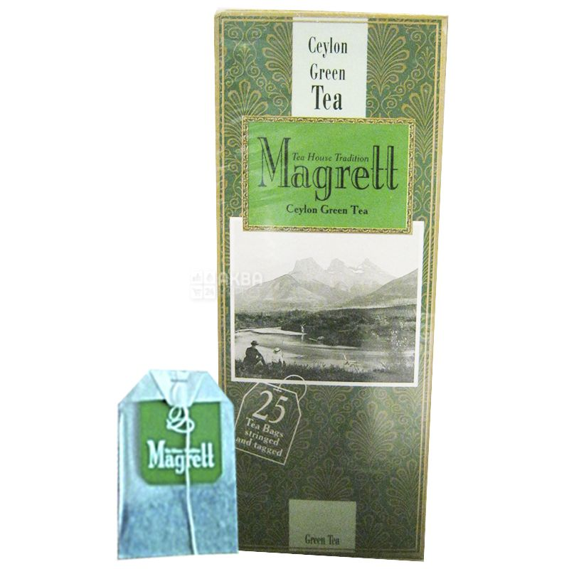 Magrett, 25 шт., чай, зелений, Green Тea
