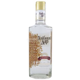 Bread Gift Classical Vodka, 40%, 0.37 L