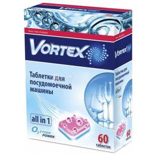 Vortex таблетки для посудомоечных машин, Без фосфатов, 60 шт, Коробка