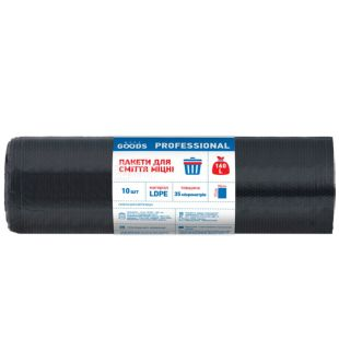 More Goods, Durable garbage bags, 160 l, 10 pcs.