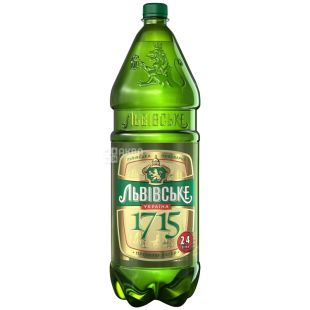 Львовское 1715 Пиво, 2.4л, ПЭТ
