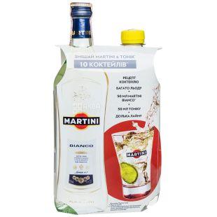 Martini Bianco, Вермут солодкий, 0,5 л + Тонік, 0,5 л