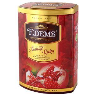 Edems Granate Ruby Чай чорний крупнолистовий, 200г, жестяна банка