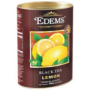 Edems, Lemon, 100г, Чай Эдемс, Лимон, черный, тубус