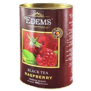 Edems, Raspberry, 100г, Чай Эдемс, Клубника, черный, листовой, тубус