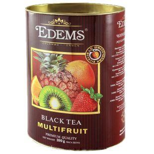 Edems, Multifruits, 100г, Чай Эдемс, Мультифрукт, черный, листовой, тубус