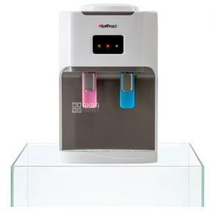 HotFrost D115, Кулер для води настільний, білий, 2 крана