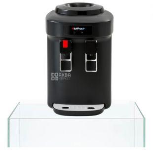 HotFrost D65EN, Кулер для води настільний, чорний, 2 крана
