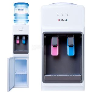 HotFrost V1133CE, Outdoor water cooler, black and white, 2 taps