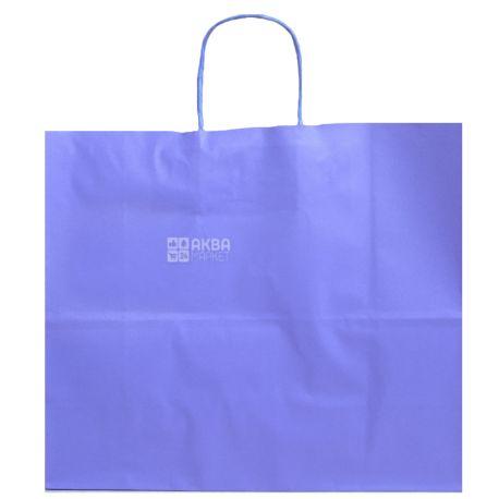 Пакет бумажный с ручками, Фиолетовый, 32 х 13 х 28 см