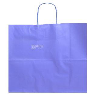 Paper bag with handles, Violet, 32 x 13 x 28 cm